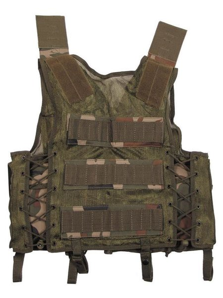 Tactical le gilet, lengagement de secteur, woodland, variable de grandeurs