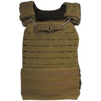 Tactical Weste Laser Molle coyote tan