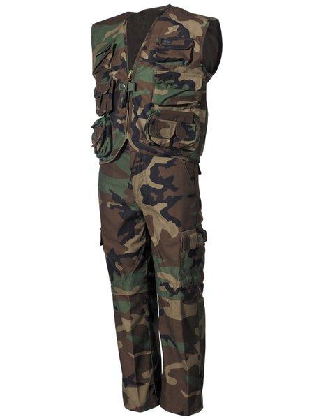 billiger großes Sortiment Outlet-Boutique Kinder-Anzug, woodland, Weste u. Hose,mit abnehmbaren Beinen