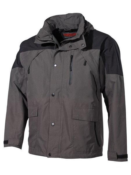 Outdoor Jacke, High Mountain Schwarz/grün XXXL