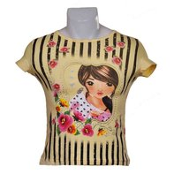 Filles le T-Shirt Girly Jaune