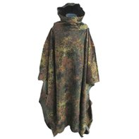 Original the armed forces Regenponcho flecktarn