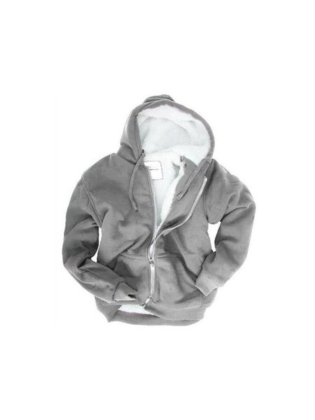 Winter Sweatjacke Grau XXL