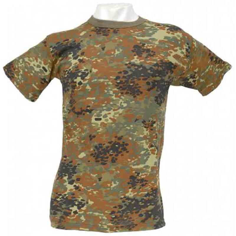 ed842f11390f3d T-Shirt halbarm US-Style Flecktarn - Army- Freizeit- Outdoor- Damen-, 10,90  €