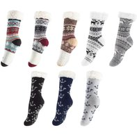 Socks with different motifs and ABS sole