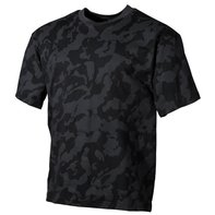 US T-Shirt, halbarm, night - camo, 170g/m²