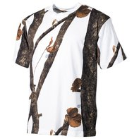 US T-Shirt, hunter - snow, halbarm, 170g/m²